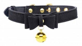 Halsband mit Katzenglocke Schwarz