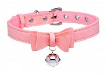 Halsband mit Katzenglocke Rosa