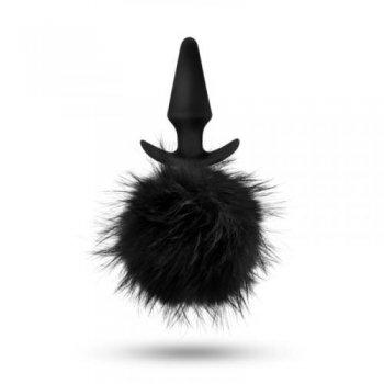 Analplug mit Hasenpuschel 17,2 cm